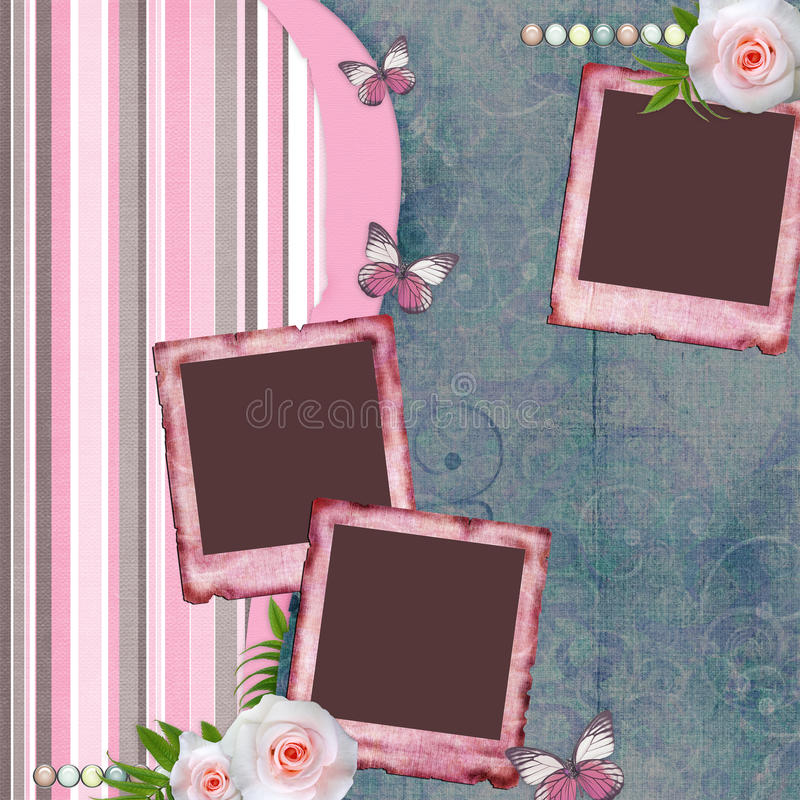 Free Beautiful Album Page In Scrapbook Style Stock Images - 20970964