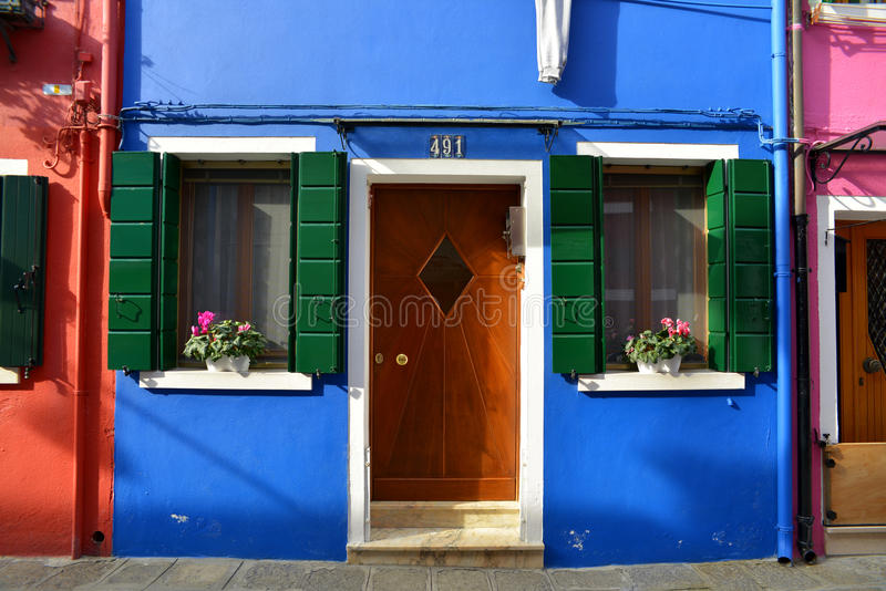 Download Colored front door stock image. Image of italy, colored - 29801227