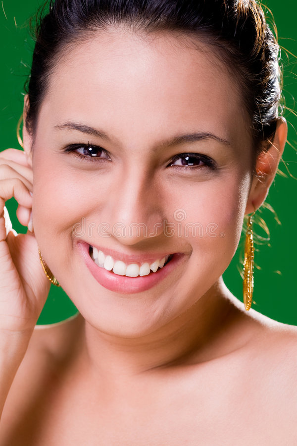 Beautiful alluring Smile stock photo