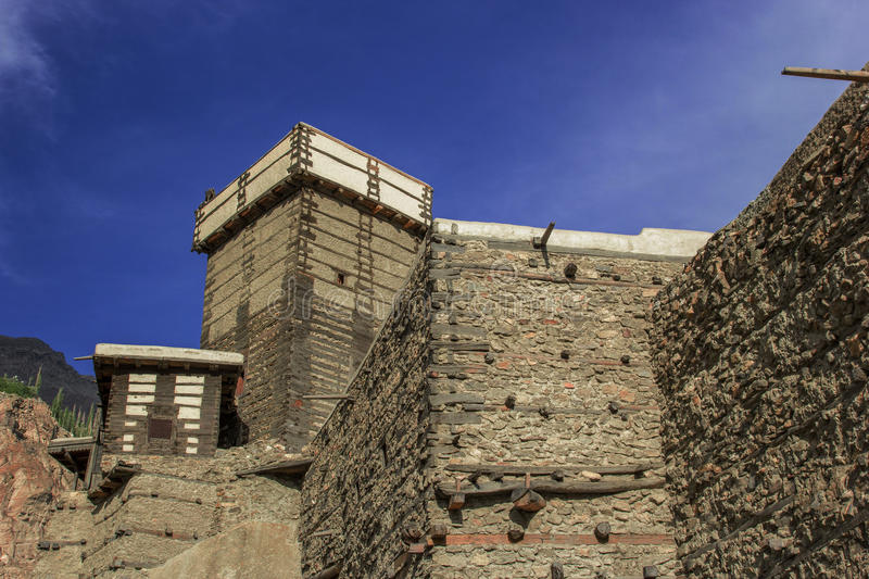 The beautiful altit fort at hunza GB stock images