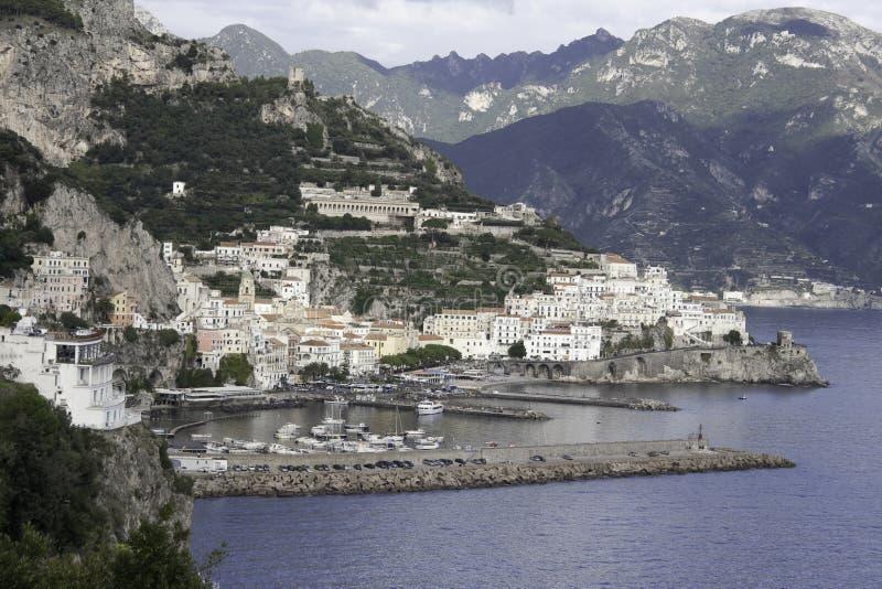 Beautiful Amalfi Coast stock photography