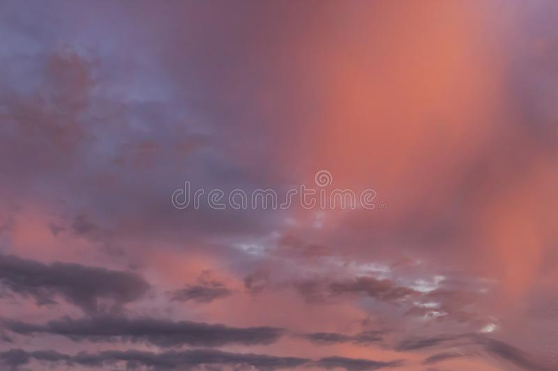 Beautiful and amazing sky at sunset royalty free stock photo