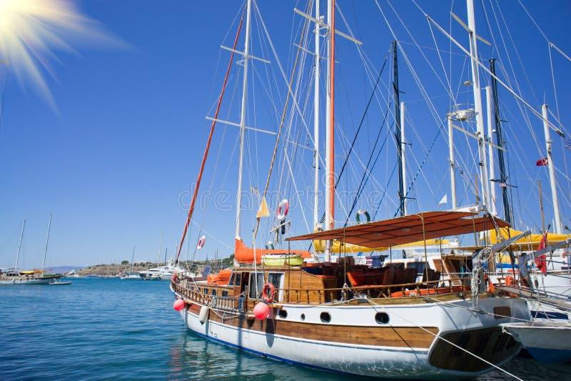Download Beautiful,amazing Yachts At Coast Aegean Sea. Stock Photo - Image: 20378884