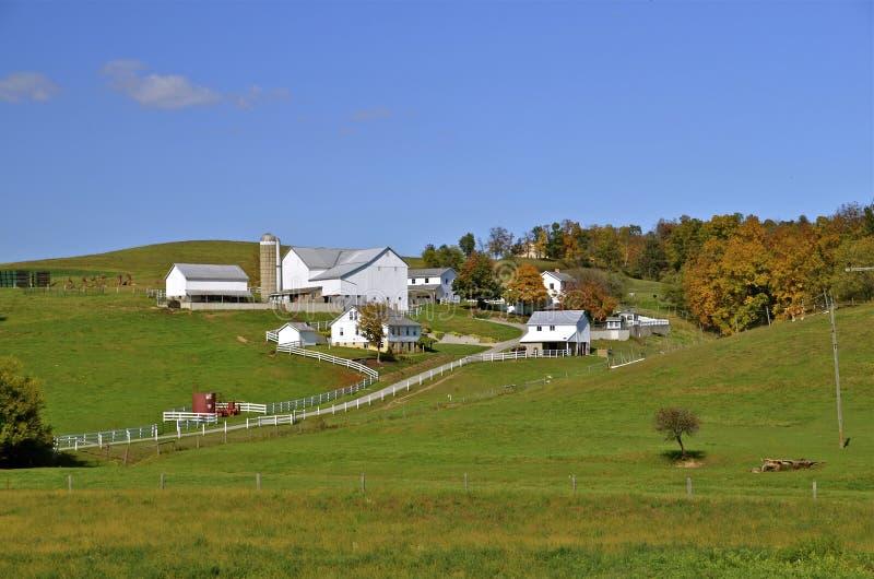 Beautiful Amish Farm stock photos
