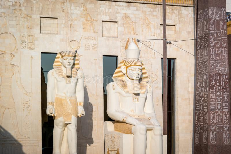 Beautiful Ancient Egyptian landmarks and architecture design - pharaohs and ancient symbols of Egypt stock images