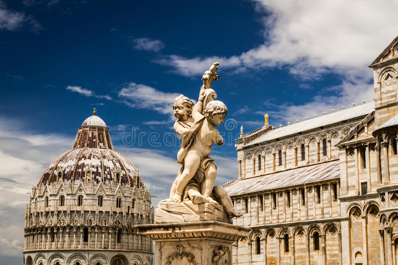 Beautiful ancient monuments in Pisa at summer stock photo