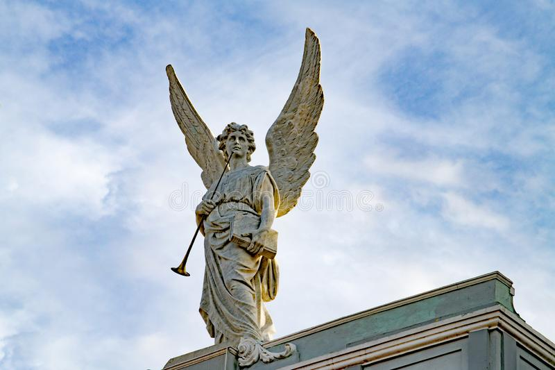 Beautiful angel with tall wings, Santiago de Cuba royalty free stock photography