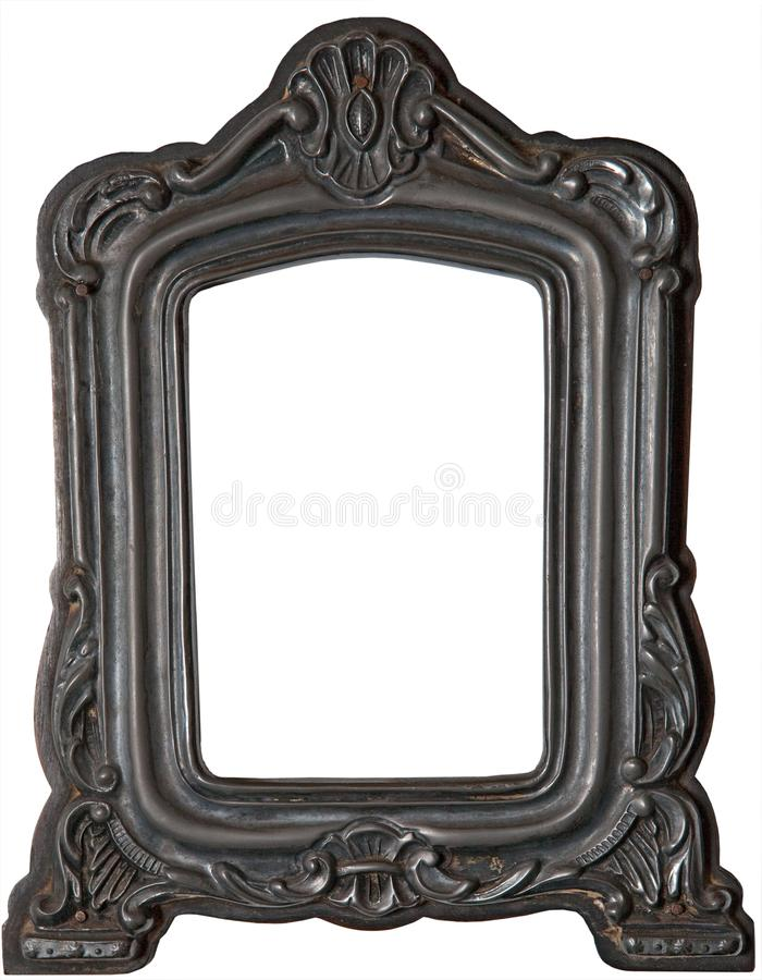 Real frame photography with png format. A beautiful and antique tin frame. You can also download in PNG format royalty free stock photography