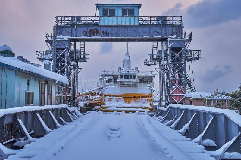 A beautiful Aomori port around the longest Aomori bay bridge in Aomori prefecture. A beautiful Aomori port around the longest Aomori bay bridge in Aomori stock image