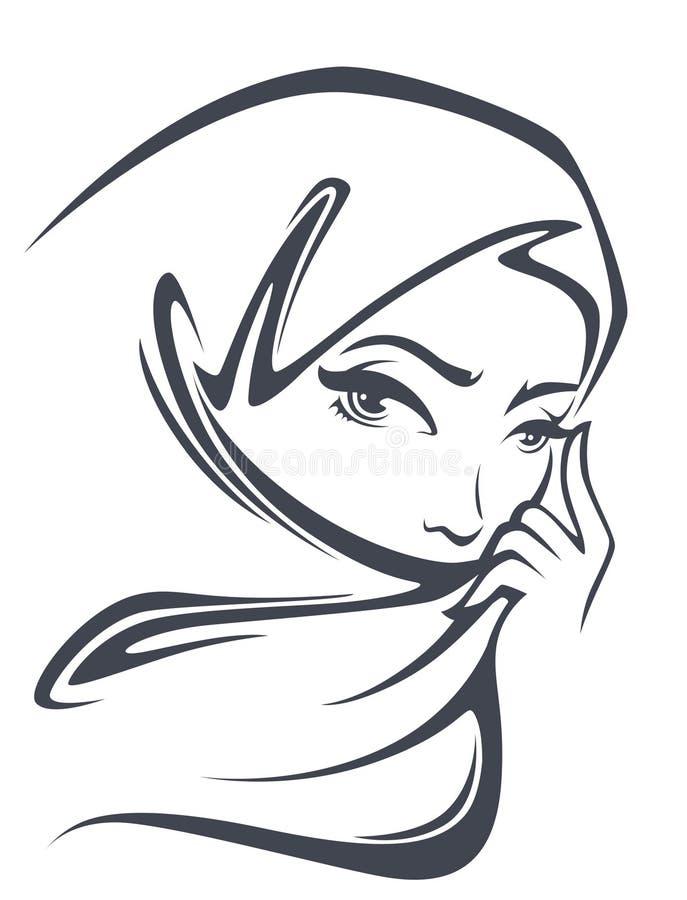 Beautiful arabian girl stock illustration