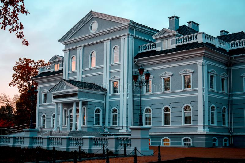 Beautiful architectural structure. Center for the development of interpersonal communications in Kaliningrad. Beautiful architectural structure, mansion. Center stock image