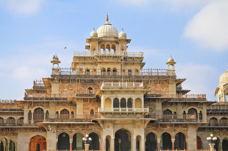 Albert Hall Museum. Beautiful architecture of Albert Hall Museum, Jaipur, Rajasthan. Albert Hall Museum is the oldest museum of the state. The building was stock photography
