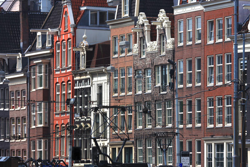 Beautiful architecture of Amsterdam city, Holland royalty free stock image