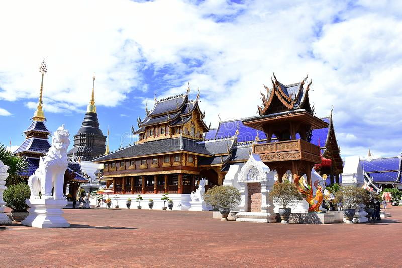 Beautiful architecture of Ban Den temple, Thailand stock images