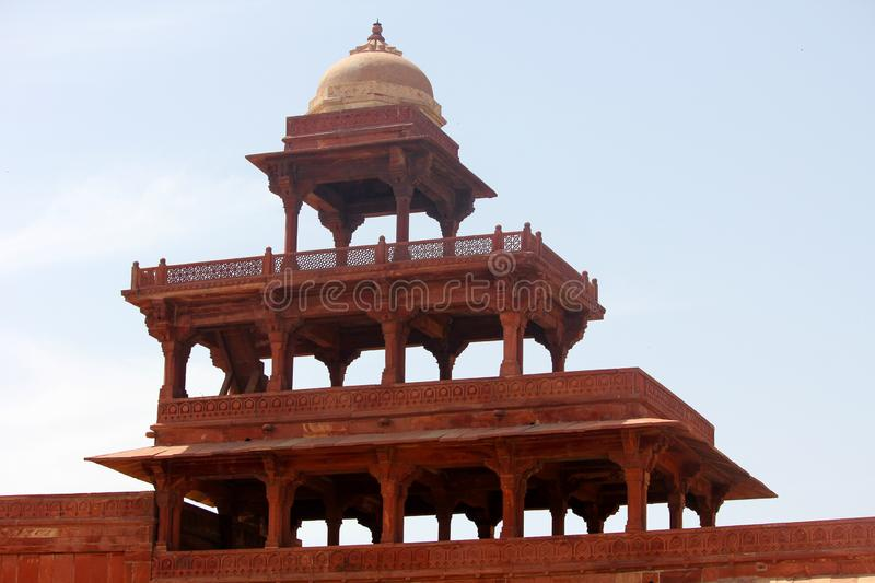 Fatehpur Sikri Fort Architecture. The beautiful architecture of the Fatehpur Sikri fort in India stock photos