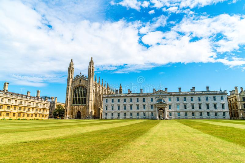 King's College Chapel in Cambridge, UK. Beautiful Architecture at King's College Chapel in Cambridge, UK royalty free stock photos