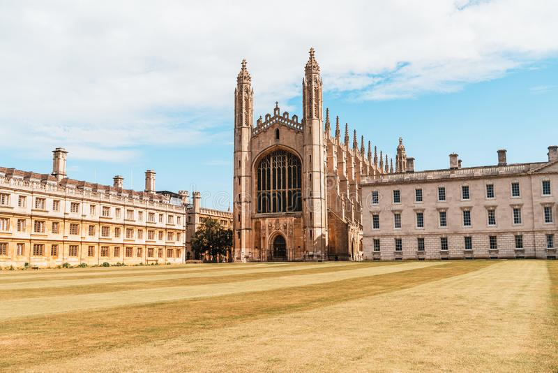 King's College Chapel in Cambridge, UK. Beautiful Architecture at King's College Chapel in Cambridge, UK royalty free stock image