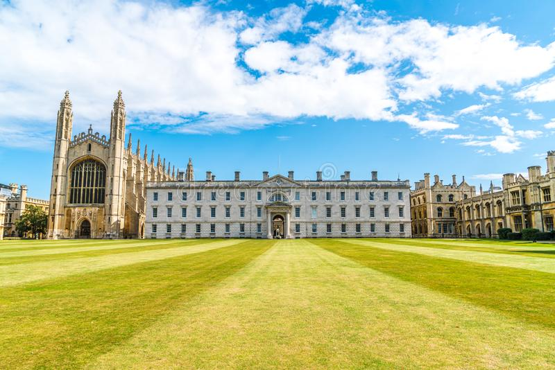 King's College Chapel in Cambridge, UK. Beautiful Architecture at King's College Chapel in Cambridge, UK stock images