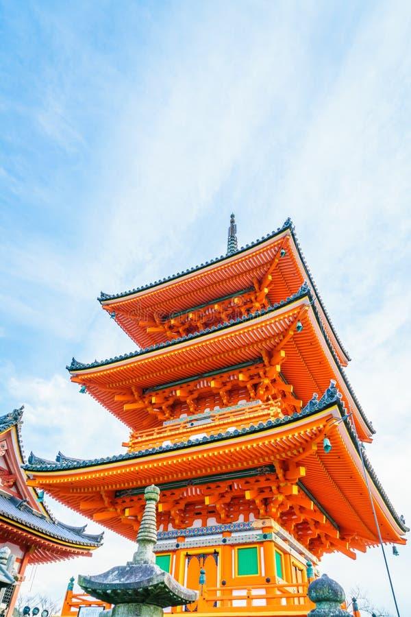 Beautiful Architecture in Kiyomizu-dera Temple Kyoto, Japan . stock images