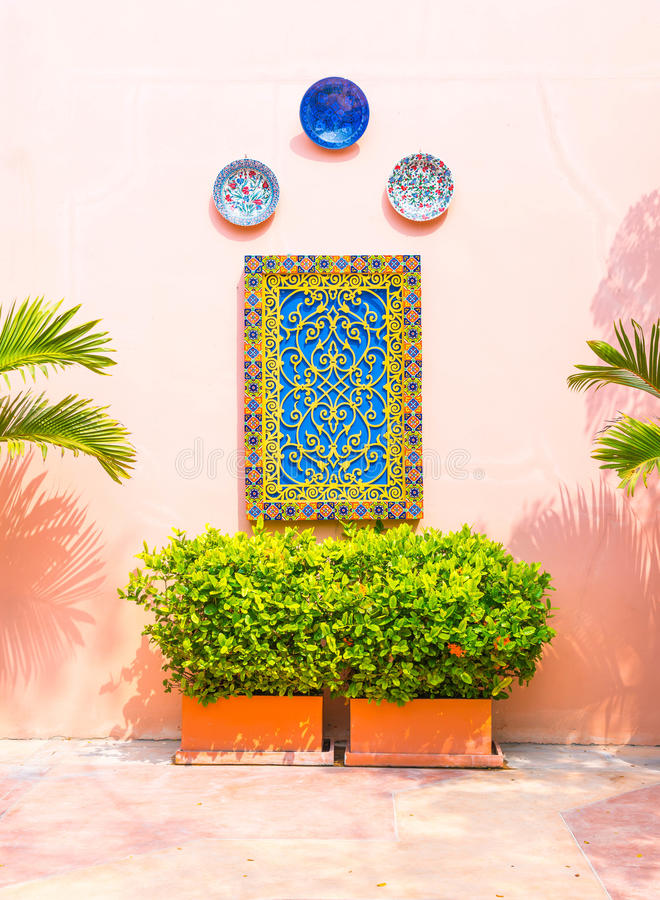 beautiful architecture morocco style stock photos