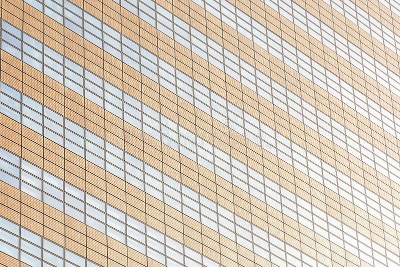 Beautiful architecture office building with glass window textures royalty free stock photography
