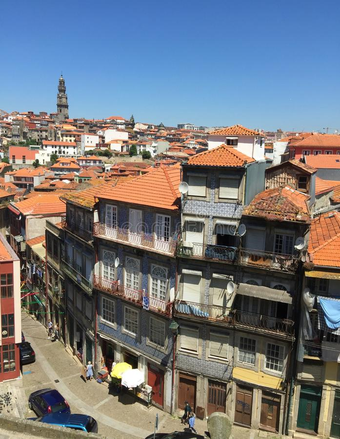 Streets of Porto Portugal in Summer stock image