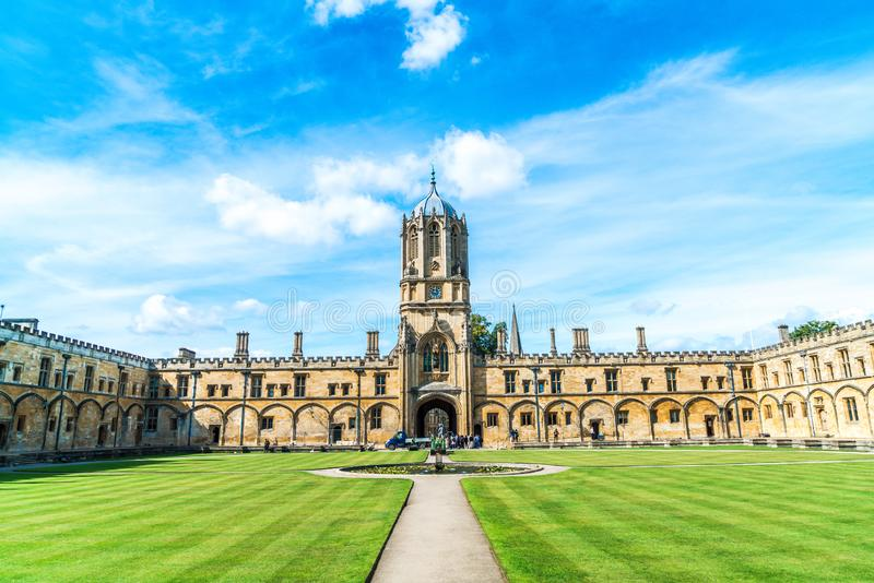 Beautiful Architecture Tom Tower of Christ Church, Oxford University royalty free stock photo