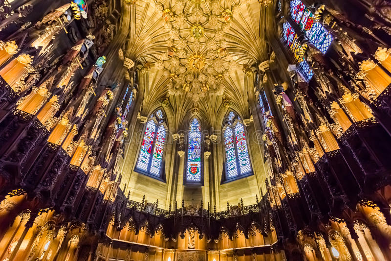 Beautiful archway in the Cathedral of Edinburgh royalty free stock photos