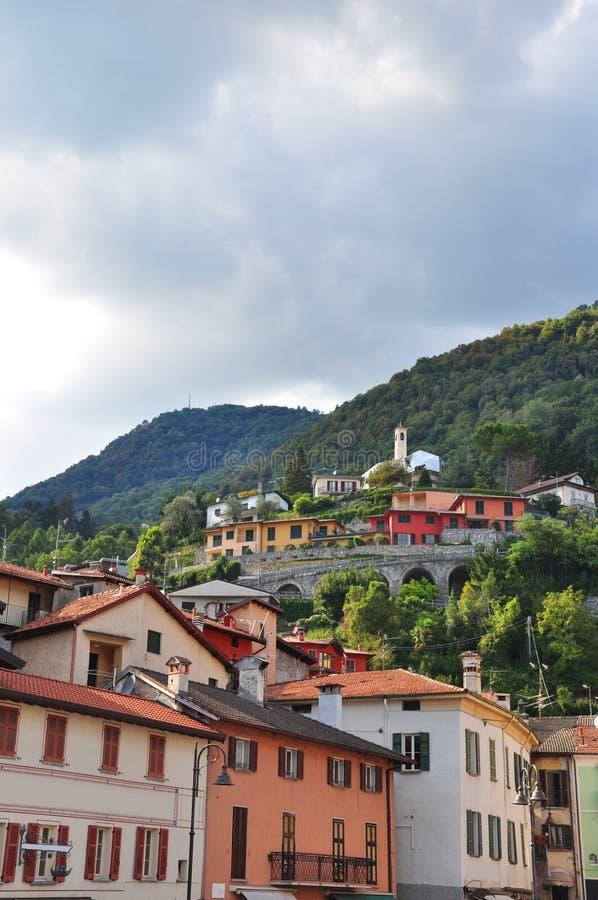 Beautiful argegno Lake Como italy stock photos