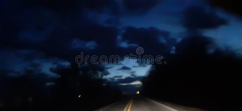 Beautiful Arkansas sunset blue royalty free stock images