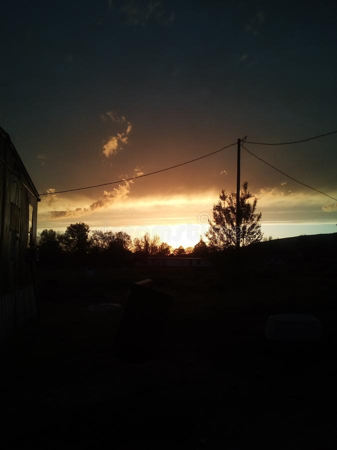 Beautiful Arkansas sunset royalty free stock images