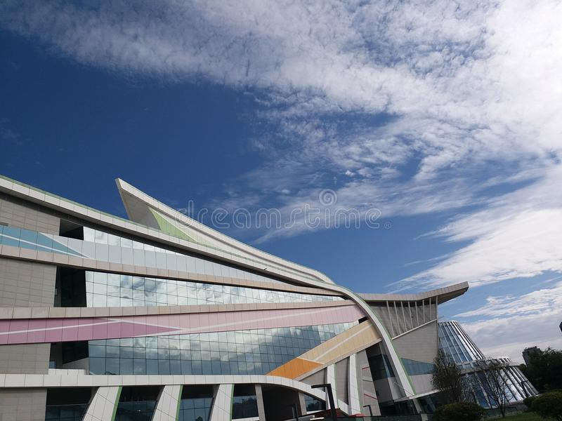 The beautiful art centre of weifang. This building is standing at weifang ,the hometown of kites stock photography