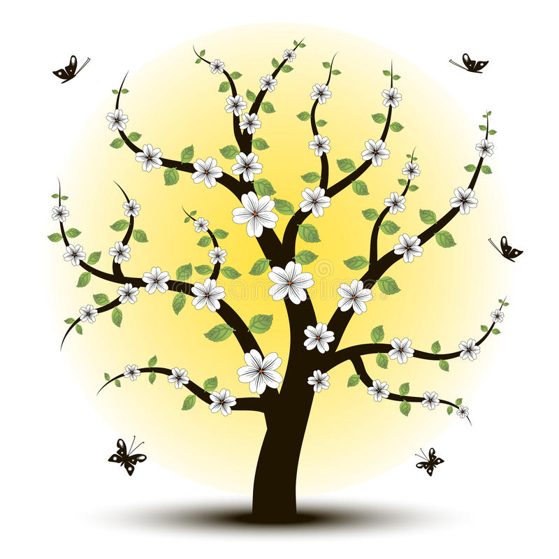 Beautiful art tree for your vector illustration