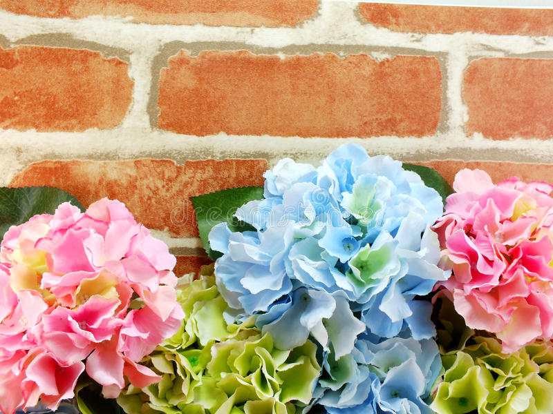 Beautiful artificial flower bouquet copy space border background. Beautiful artificial flowers bouquet copy space border background stock image