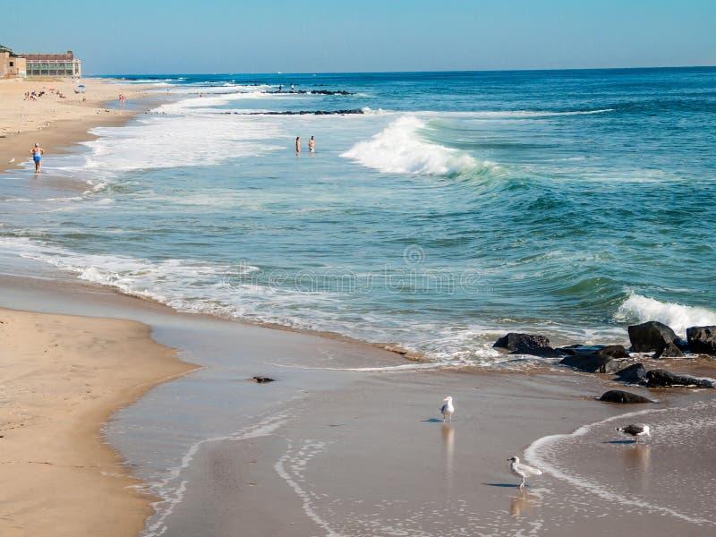 Beautiful Asbury Park Beach royalty free stock photos