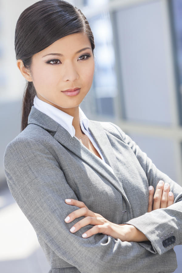 Beautiful Asian Chinese Woman Or Businesswoman Royalty Free Stock Photography