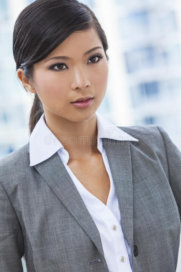 Beautiful Asian Chinese Woman or Businesswoman royalty free stock photo