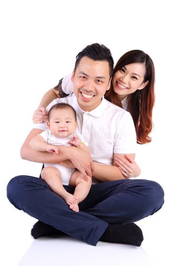 Beautiful asian family royalty free stock photo