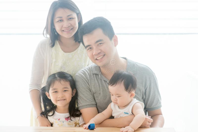 Beautiful Asian family portrait stock image