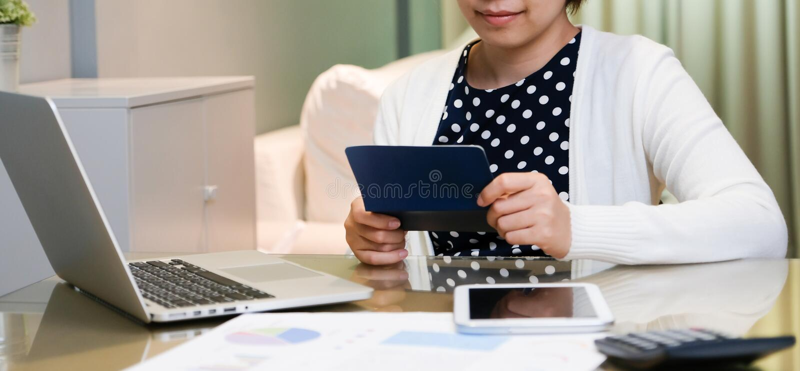 Beautiful Asian female smiling. stock photos