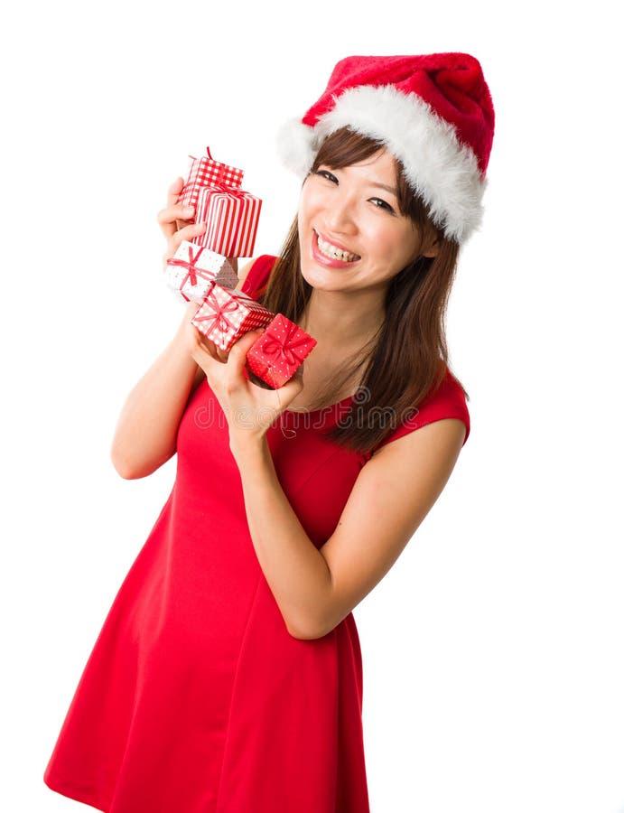 Download Beautiful asian girl stock image. Image of christmas - 27695155