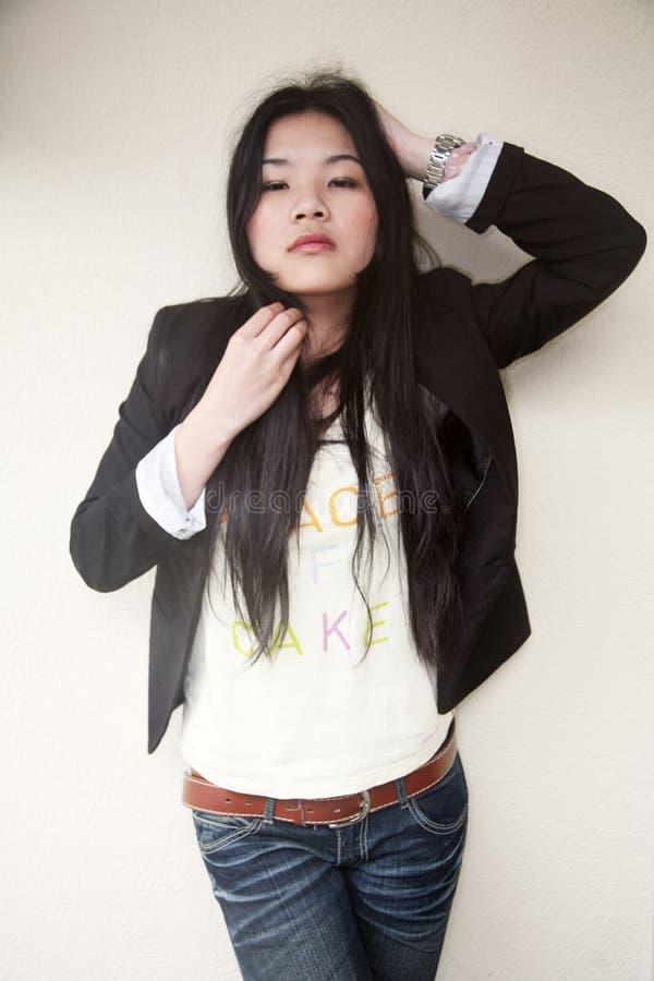 Download Beautiful Asian Girl In Black Royalty Free Stock Photos - Image: 9179308