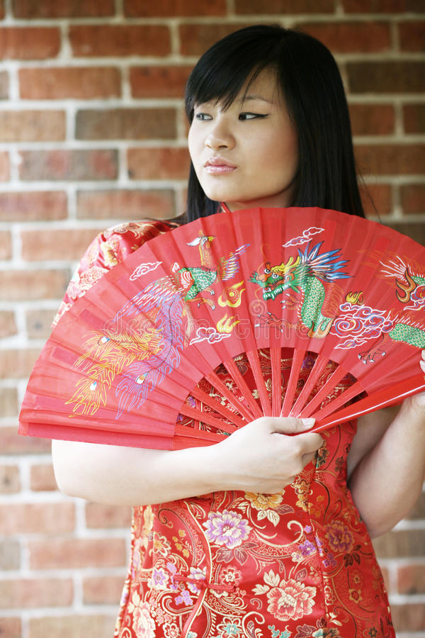 Download Beautiful Asian Girl With A Fan Stock Image - Image: 11407529