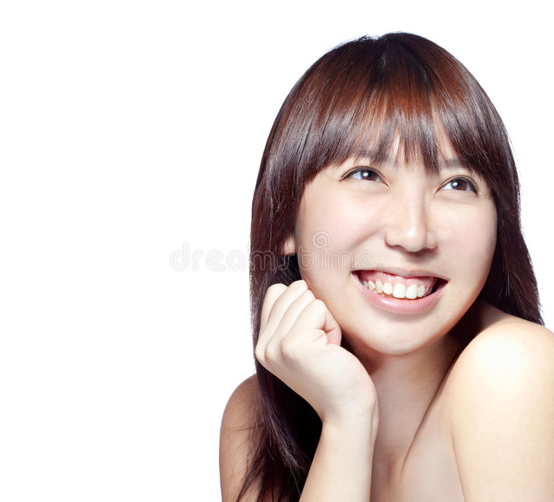 Beautiful Asian girl with perfect skin royalty free stock photos