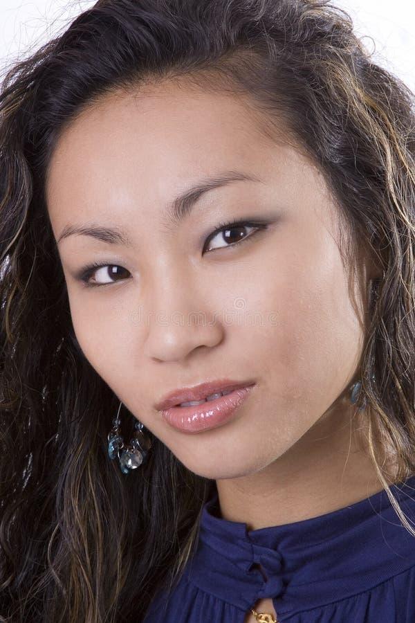 Beautiful Asian Model Head Shot stock photos