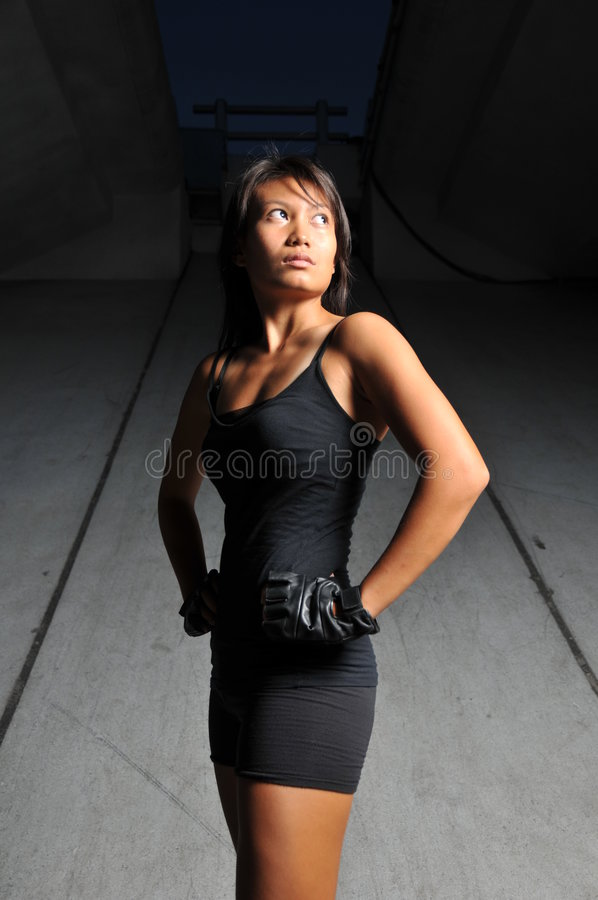 Beautiful Asian Sports woman stock images