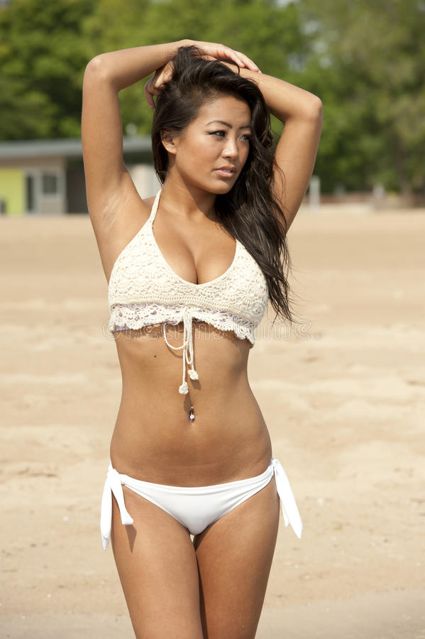 Free Beautiful Asian Swimsuit Model Royalty Free Stock Images - 42901329