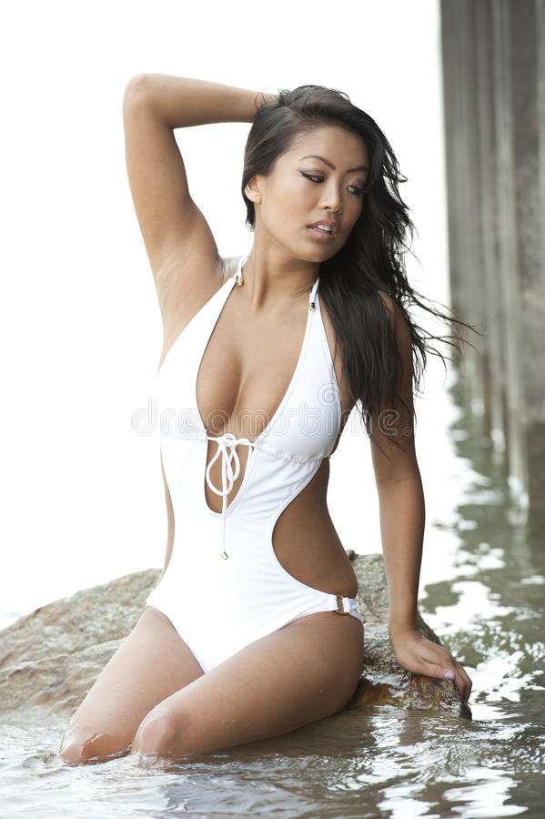 Asian model picture swimsuit