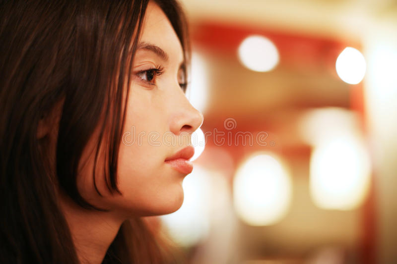 Beautiful Asian woman royalty free stock images