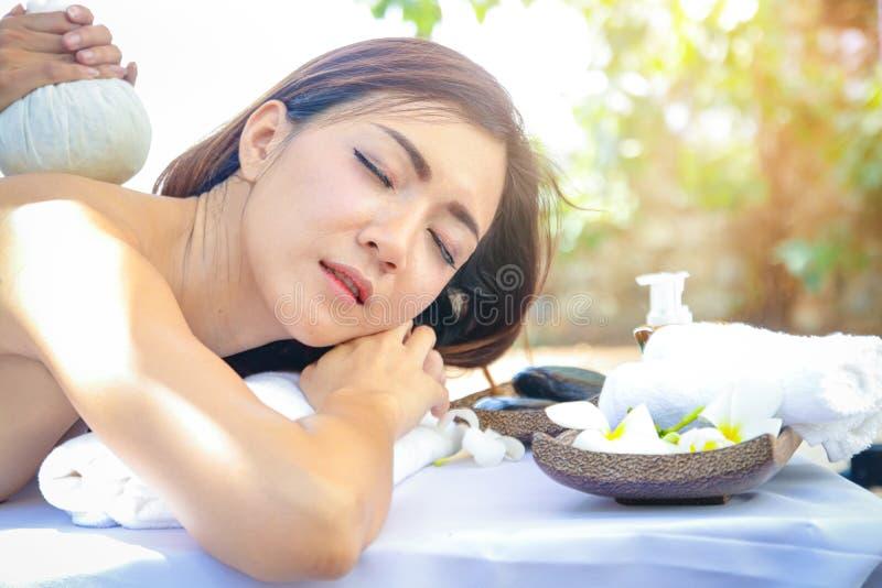 Teen girls massage spa royalty free stock photos